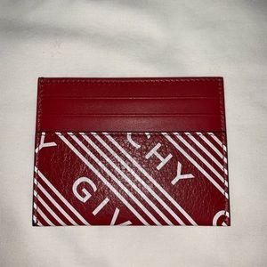 Givenchy Logo Card Holder (Vermillion)